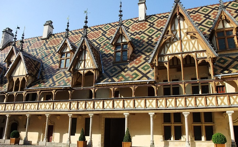 Visit of the Hospices de Beaune, historic french site