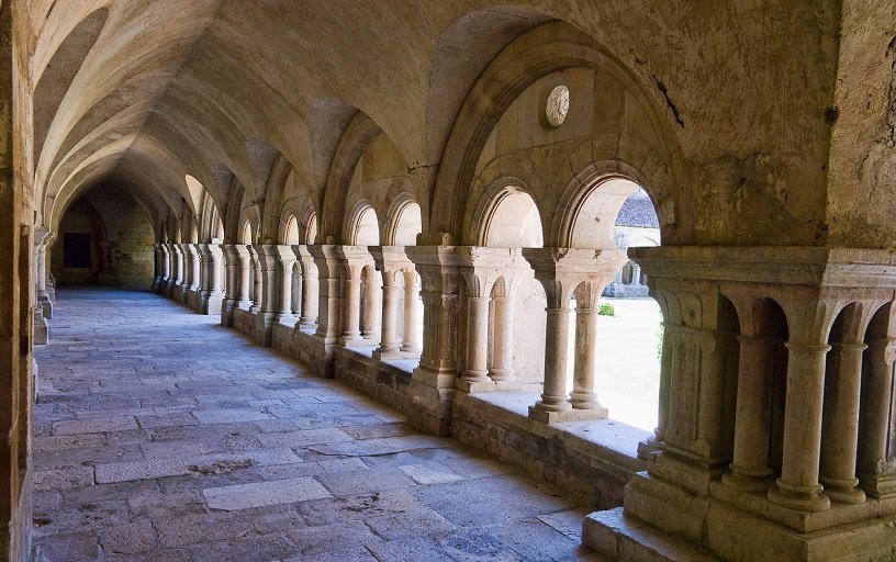 Visiting Abbey of Fontenay in Burgundy